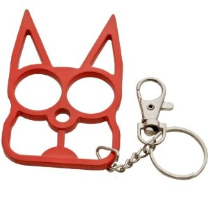 Cat Metal Self Defense Keychain